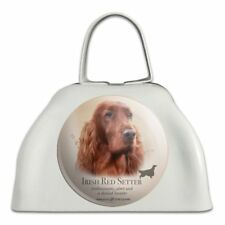 Irish Red Setter Dog Breed White Metal Cowbell Cow Bell Instrument