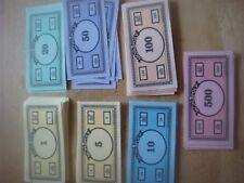 Monopoly - 80 Spare Modern Plain Back Notes Bank Notes Money - Small - 9cms