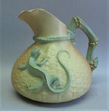 Fine English ROYAL WORCESTER Salamander Pitcher  c. 1909  antique porcelain