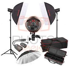 Studio Flash Lighting Kit - 800w 2 x 400w Head JINBEI Softbox Strobe Photography