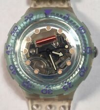 1992 Vintage Scuba Swatch Watch SDK104 Jelly Bubbles Exc Cond