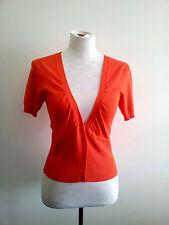Vibrant Colour! Veronika Maine size S burnt orange cardi in excellent condition
