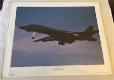"B-1 B Rockwell International Photo Poster 1991 Power Graphics 20"" X 16"""