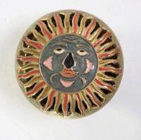 "Vintage Brass Sun Trinket Box 5"" X 3.5"""