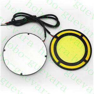 2X Car Yellow+White COB LED Daylight Bulb DRL LAMP Daytime Running Fog Light