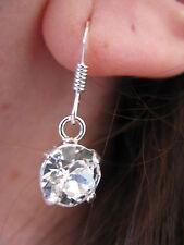 Boucles d'oreilles en argent 925 avec cristal de Swarovski de 8 mm NEUF