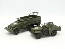 Solido Military Army 1/50 - Bundle half Track + Dodge 4X4