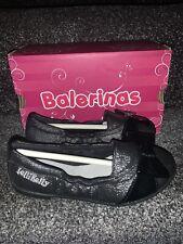 Lelli Kelly Brillo Bailarina Zapato Nueva En Caja Chicas 10