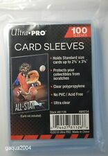 Ultra Pro Soft Sleeves for Pokemon, MTG and other Trading Cards, 1 Pack of 100
