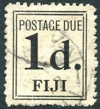 FIJI-1917 1d Black Postage Due Sg D2 GOOD USED V23768