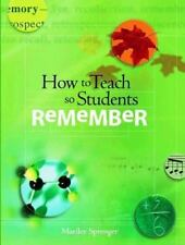 How To Teach So Students Remember-ExLibrary