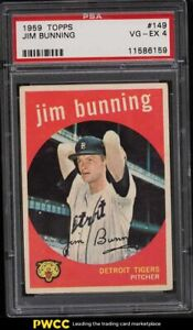 1959 Topps Jim Bunning #149 PSA 4 VGEX
