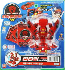 TURNING MECARD W MANTARI RED Toy Transformer Transforming CAR ROBOT Korean TV
