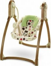 Fisher-Price Baby Studio Wood Collection Swing EUC RRP $230
