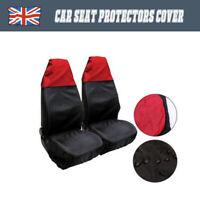 Red Waterproof Nylon Front Universal Car Van Heavy Duty Protectors Seat Covers