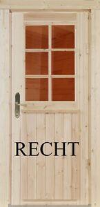 Holz Einbautür tür Gartenhaustür Holztür Einzeltür Nebeneingangstür Nach Maß