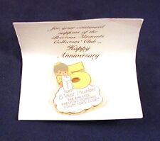 "Very Nice 1.5"" Enesco Precious Moments 5 Year Collector Club Pin"