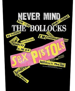 Sex Pistols Never Mind The Boll**ks giant sew-on backpatch 360mm x 290mm (rz)