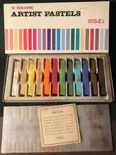 Vintage Smi Artist Pastels 12 Square Assorted Colors Art Supplies Drawing