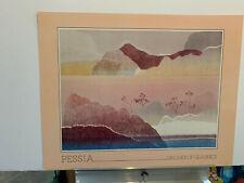 Pessia DESERT print poster 28x22 Never framed!