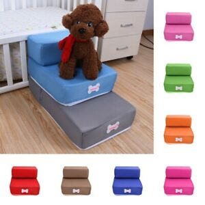 Pet Stairs 2 Layers Breathable Mesh Non-Slip Dog Cat Training Ramps Foam Sofa