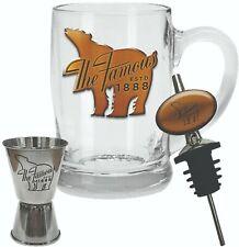 BUNDABERG Rum Bundy Bear Glass Drink Stein With Double Bar Jigger Spirit Pourer