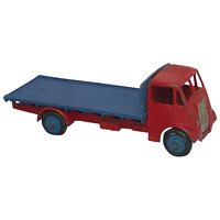 Vintage 20th Century 1950's Diecast Dinky Toy GUY 512 Red Cab Truck Blue Flatbed