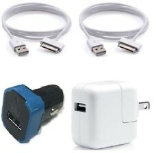 10W Wall + Car Charger + 2X USB Charging Cable Cord iPhone 4 4S 3GS 3 iPod Touch