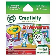 LeapFrog Leapster Explorer LeapPad 1 and 2 Game - Crayola Art Adventure BNEW