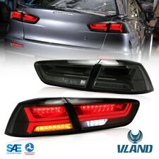 LED Taillights W/ Sequential For 08-17 Mitsubishi Lancer Evo x Rear Lamps Smoked