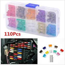 110 Pcs/Set Car 2/3/5/7.5/10/15/20/25/30/35AMP Blade Fuse Universal For Car SUV