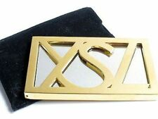 100% AUTHENTIC RARE Exclusive YSL COUTURE GOLD JEWELLED Logo PURSE TRAVEL MIRROR