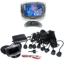 Francotirador delantero y trasero Parking sensores Kit De 8 Sensores Con Pantalla. invertir de forma segura.