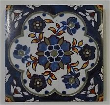 Antique Tile with Persian Floral Pattern by Mosaic Tile