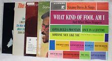 5 SAMMY DAVIS JR. LP'S - RECORDS - STEPS OUT,SINGS, COUNT BAISE, & MORE