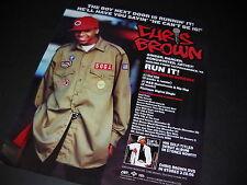 CHRIS BROWN The Boy Next Door Is Runnin' It 2005 PROMO DISPLAY AD mint cond.