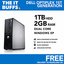 Dell OptiPlex - Dual Core 2GB RAM 1tb HDD Windows XP - Escritorio Pc Ordenador