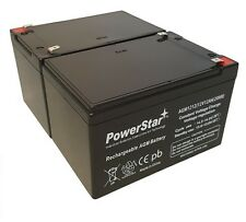 NEW 2pc 12V 12Ah SLA Battery WB12120F1 For UB12120, D5744 FREE USA SHIP