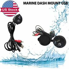 Adapter Boat Car Stereo Radio USB Cable Marine Dash Mount Radio AUX Extension