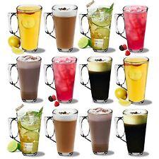 Large Latte Glasses Cappuccino Glass Tassimo Costa Coffee Cups - 380ml - x12
