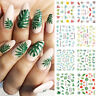 Nail Water Decals Flower Leaves Slider Transfer Nail Stickers Nail Art Wraps DIY