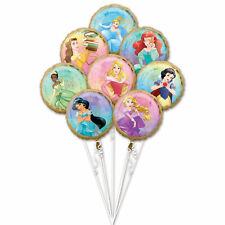 Set 8 große Folienballons Ballons ca. 45 cm Disney Princess Once Upon A Time