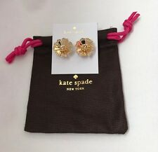 Kate Spade New York Garden Grove Gold & Crystal Stud Earrings - Brand New!