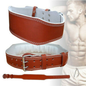 """6"""" Leather Back Support Dipping Weightlifting Belt Fitness Workout Training"""