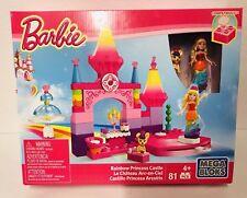 Barbie Rainbow Princess Castle Mega Blocks Building Toy Set Figures Doll New