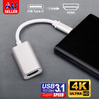 4K USB-C Type C to HDMI Cable Adapter For Thunderbolt 3 Samsung S20 S10 S9 Plus