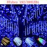 8x LED Lichterregen Meteorschauer Schneefall Eiszapfen Regentropfen Lichterkette