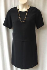Capture Layer Dress Size 12 M NEW +TAG Black Short Sleeve Corporate Work Dinner