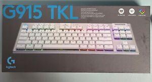 Logitech G915 TKL Wireless Gaming Tactile Keyboard, US International - White