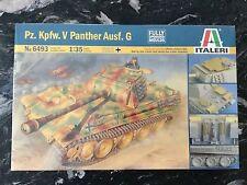 ITALERI 1/35 WW II GERMAN PZ. KPFW. V  PANTHER  AUSF G TANK MODEL KIT # 6493 F/S